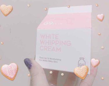 WHITE WHIPPING CREAM(ウユクリーム)/G9SKIN/フェイスクリームを使ったクチコミ(1枚目)
