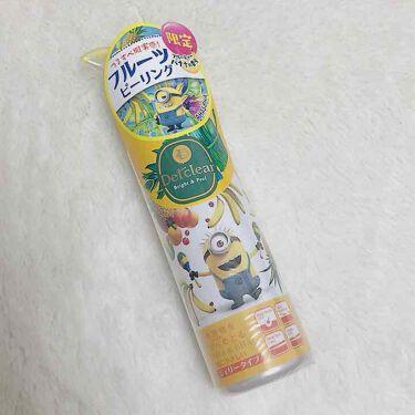 【画像付きクチコミ】.🖤DETクリアブライト&ピールピーリングジェリーフルーティーバナナの香り-----------------ミニオンでパッケージが可愛くて買った、角質や汚れをとるピーリングジェル。いつもはこの種類の水色の無香料で、濡れたままでも使...