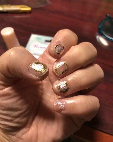【画像付きクチコミ】DAISOサンリオネイルクレヨンマーメイドネイルシール🧜♀️でネイルしてみました!爪が小さくてせっかくのシールがぁー😭👆‼️可愛いです。