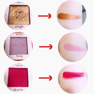 IMAGIC PROfessional cosmetics  16 COLOR EYESHADOW PALETTE/Amazon Series/パウダーアイシャドウを使ったクチコミ(3枚目)
