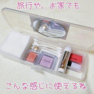 化粧コットン&綿棒セットケース(カガミ付き)/DAISO/その他化粧小物を使ったクチコミ(3枚目)