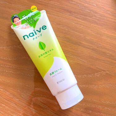洗顔フォーム(お茶の葉エキス配合)/ナイーブ/洗顔フォームを使ったクチコミ(1枚目)