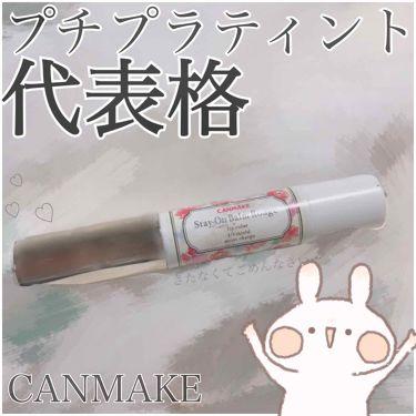 ステイオンバームルージュ T/CANMAKE/口紅を使ったクチコミ(1枚目)
