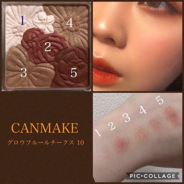 グロウフルールチークス/CANMAKE/パウダーチーク by 💐