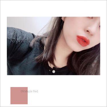 シースルーマットティント 韓服エディション/rom&nd/口紅を使ったクチコミ(9枚目)