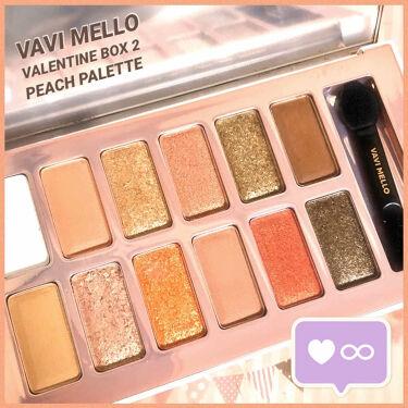 バレンタインボックス2 ピーチパレット/VAVI MELLO/パウダーアイシャドウを使ったクチコミ(1枚目)