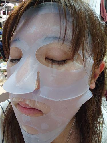 フェイスマスク/DAISO/シートマスク・パックを使ったクチコミ(3枚目)