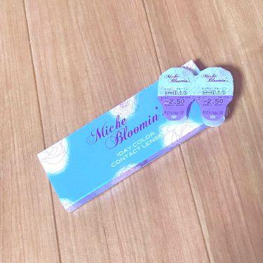 ミッシュ ブルーミン ワンデー (クォーターヴェール シリーズ/イノセント シリーズ)/ミッシュブルーミン/カラーコンタクトレンズを使ったクチコミ(1枚目)