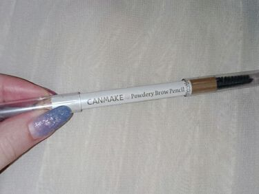 パウダリーブロウペンシル/CANMAKE/アイブロウペンシルを使ったクチコミ(1枚目)