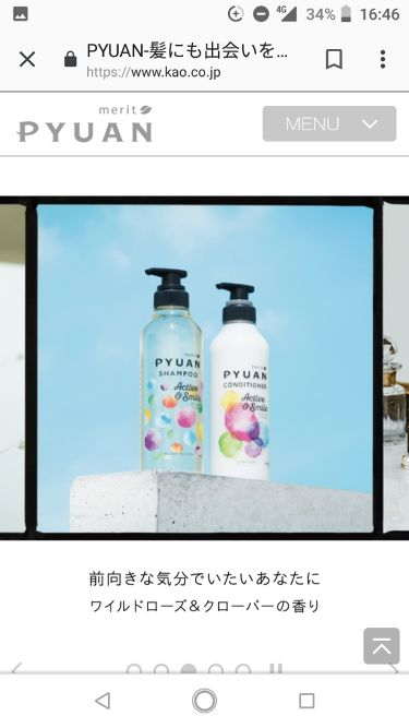 PYUAN アクティブ&スマイル シャンプー/コンディショナー/ピュアン/シャンプー・コンディショナーを使ったクチコミ(1枚目)