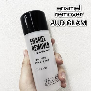 UR GLAM ENAMEL REMOVER(エナメルリムーバー)/URGLAM/除光液を使ったクチコミ(1枚目)