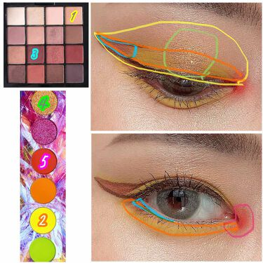 UT シャドウ パレット/NYX Professional Makeup/パウダーアイシャドウを使ったクチコミ(6枚目)