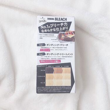 【画像付きクチコミ】このブリーチ剤、きちんと色が抜けてハイトーンになるのにとっても仕上がりがなめらかなんだって☺️ブリーチした後に使うトリートメントもついていて切れにくいブリーチ髪になれるよ✨⠀使い方も簡単で1剤と2剤を混ぜて髪に塗るだけ♩手袋の他に、ケ...