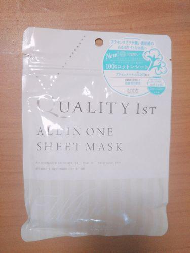 さくあさんの「クオリティファーストオールインワンシートマスク ホワイトEX<シートマスク・パック>」を含むクチコミ
