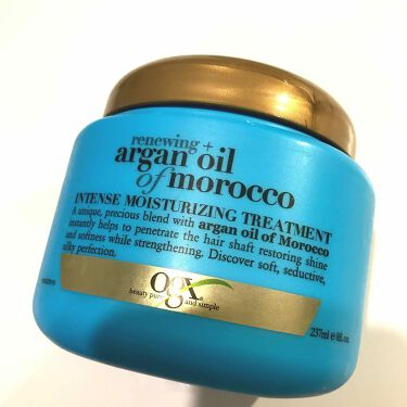 Renewing+Argan Oil Morocco  Intense Moistrizing Treatment/OGX beauty/ヘアパック・トリートメントを使ったクチコミ(1枚目)