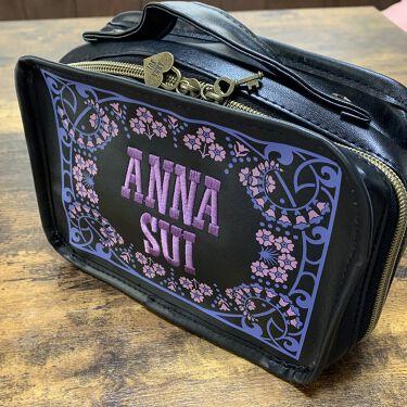 ANNA SUI ロゴ刺繍コスメポーチ ANNA SUI