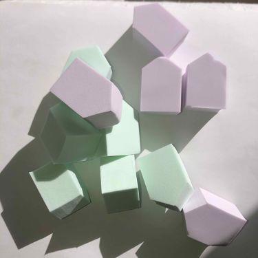 メイクアップスポンジ バリューパック ハウス型 14個/DAISO/メイクアップキットを使ったクチコミ(1枚目)