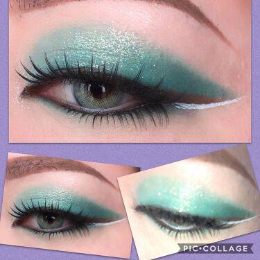 Futurism V: Electro-Turquoise/Kaleidos Makeup/パウダーアイシャドウを使ったクチコミ(3枚目)