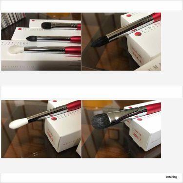 熊野筆アイシャドウブラシ 平型 大/メイクブラシを使ったクチコミ(2枚目)