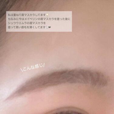 アイブロー マニキュア/shu uemura/眉マスカラを使ったクチコミ(3枚目)
