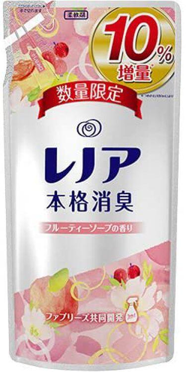 レノア本格消臭 フルーティーソープの香り つめかえ用 480ml