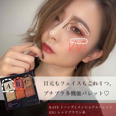 トーンディメンショナルパレット/KATE/メイクアップキットを使ったクチコミ(3枚目)