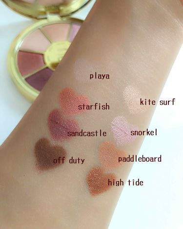 rainforest of the sea eyeshadow palette /tarte/パウダーアイシャドウを使ったクチコミ(3枚目)