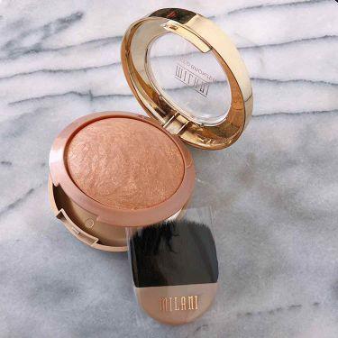 BAKED POWDER BLUSH/Milani Cosmetics /パウダーチークを使ったクチコミ(3枚目)
