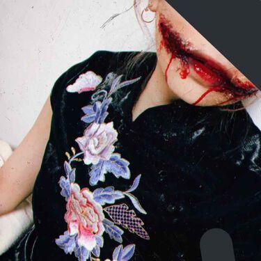 【画像付きクチコミ】\100均の商品だけで/《🎃簡単リアル傷メイク🕸🕷》イラスト解説ハロウィンに使える傷メイクの仕方をイラストで紹介しました___✍🏻-----------------用意するもの📍血のり(ダイソー)📍アイプチまたはボンド📍水のり📍ブラッ...