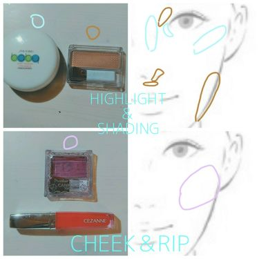 フェース コントロール カラー/CEZANNE/プレストパウダーを使ったクチコミ(4枚目)