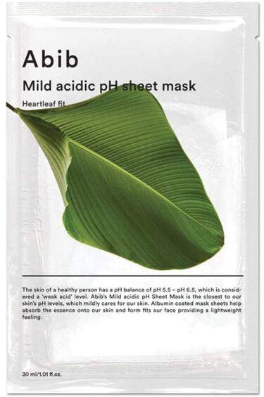 Mild acidic pH sheet mask Heartleaf fit Abib