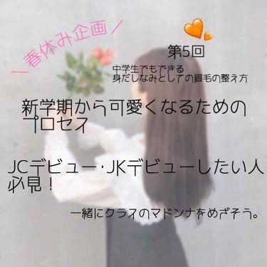 クシ付きマユハサミ ピンク/貝印/その他化粧小物を使ったクチコミ(1枚目)