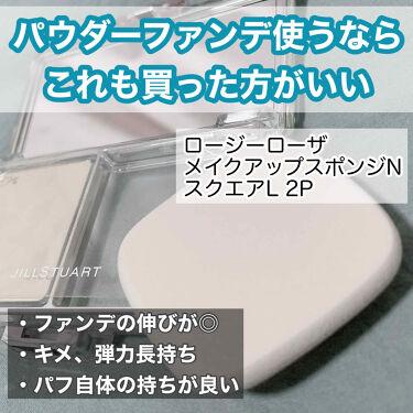 モイストスポンジ2P スクエアL/ロージーローザ/パフ・スポンジを使ったクチコミ(1枚目)
