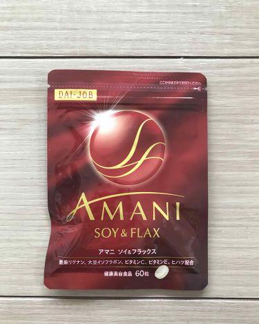 AMANI ソイ&フラックス/サントリー/健康サプリメントを使ったクチコミ(1枚目)