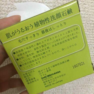 肌がうるおう植物性洗顔石鹸/シャボン玉石けん/洗顔石鹸を使ったクチコミ(2枚目)