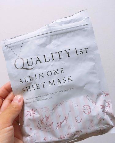 オールインワンシートマスク 超時短スキンケアシート/クオリティファースト/シートマスク・パックを使ったクチコミ(1枚目)