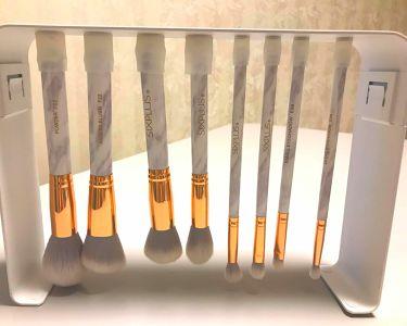 SIXPLUS 大理石柄のメイクブラシ8本セット/SIXPLUS/メイクブラシを使ったクチコミ(1枚目)