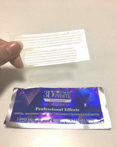 クレスト3Dホワイトニング ホワイトストリップ プロフェッショナル エフェクツ/クレスト/その他を使ったクチコミ(2枚目)