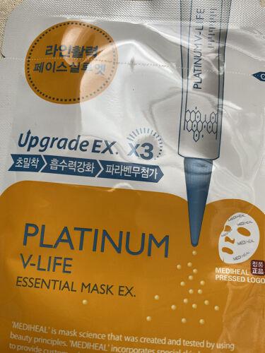 PLATINUM V-LIFE ESSENTIAL MASK EX./MEDIHEAL/シートマスク・パックを使ったクチコミ(3枚目)