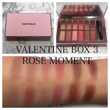 バレンタインボックス3ローズモーメント/VAVI MELLO/パウダーアイシャドウを使ったクチコミ(2枚目)
