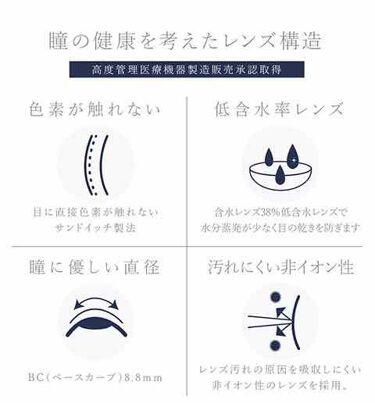 ワンデーティアモ/カラーコンタクト/その他を使ったクチコミ(2枚目)