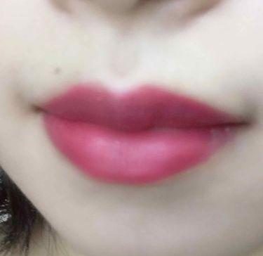 クレヨンタッチミー ベルベットリキッドルージュ/DAISO/口紅を使ったクチコミ(2枚目)