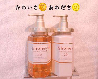 &honey ディープモイスト シャンプー1.0/ヘアトリートメント2.0/&honey/シャンプー・コンディショナー by 🐠 L i s a 🦖