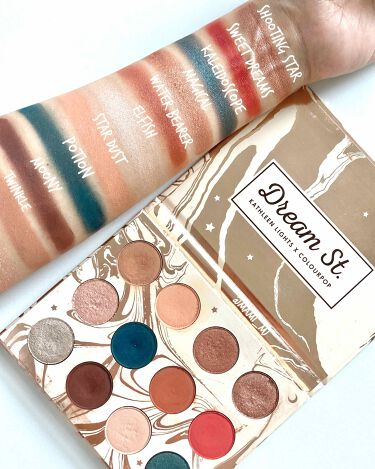 DREAM ST. Pressed Powder Shadow Palette/ColourPop/パウダーアイシャドウを使ったクチコミ(1枚目)