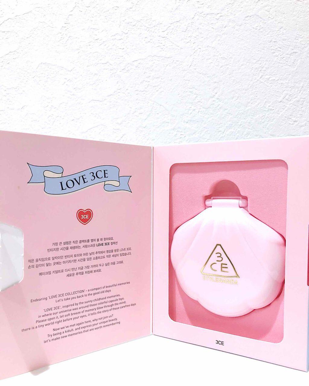 LOVE 3CE baby glow cushion 002/3CE/その他ファンデーションを使ったクチコミ(2枚目)