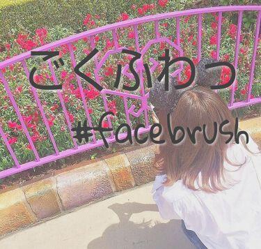 春姫 カブキフェイスブラシ/DAISO/メイクブラシを使ったクチコミ(1枚目)