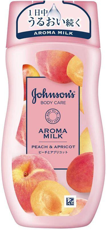 ラスティングモイスチャーアロマミルク  ピーチとアプリコットの香り ジョンソンボディケア