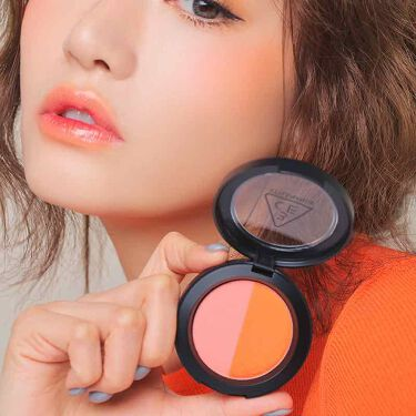 DUO COLOR FACE BLUSH/3CE/パウダーチークを使ったクチコミ(2枚目)