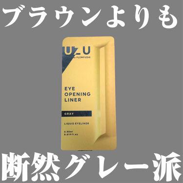 UZU EYE OPENING LINER/UZU BY FLOWFUSHI/リキッドアイライナーを使ったクチコミ(1枚目)