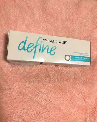 1Day Acuvue Define ラディアントチャーム/アキュビュー ディファイン/その他を使ったクチコミ(1枚目)